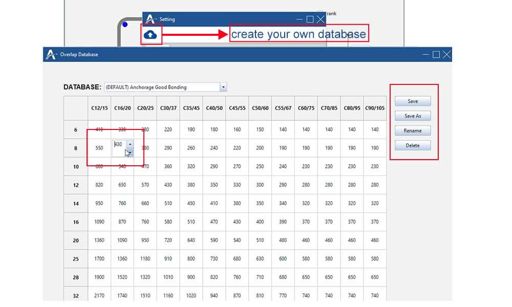 create your own overlap dababase --> save as your own database with specific name